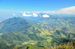 Brazil Mountains. Capim Amarelo peak located at Minas Gerais Estate, Brazil Royalty Free Stock Photo