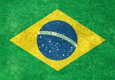 Brazil national flag background in grunge vintage style Royalty Free Stock Images