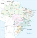 Brazil national park map Stock Photo
