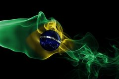 Brazil national smoke flag Royalty Free Stock Photos