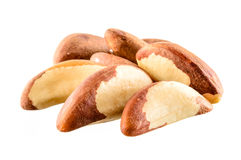 Brazil nut. Group of fruits on white background Royalty Free Stock Photo