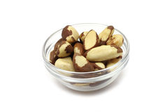 Brazil nut kernel in a glass Royalty Free Stock Photo