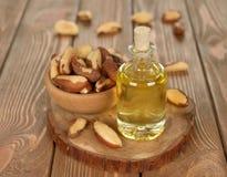 Brazil nut oil Stock Photography