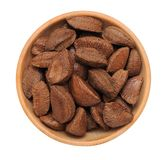 Brazil nut in shell Royalty Free Stock Images