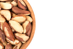 Brazil nuts in bowl Royalty Free Stock Images