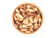 Brazil nuts in bowl Stock Photography