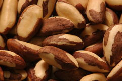 Brazil nuts. Disposed over the table. its oil is commonly used com cosmetics stock image