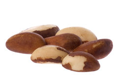 Brazil Nuts Isolated Stock Image