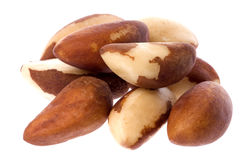 Brazil Nuts Isolated Royalty Free Stock Photos