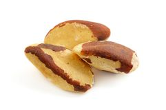 Brazil nuts isolated Stock Photos