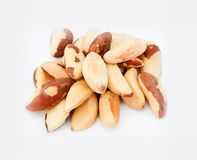 Brazil nuts isolated on white background Stock Image