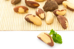 Brazil Nuts with selective focus Royalty Free Stock Images