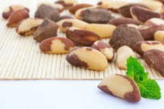 Brazil Nuts and some copy space Royalty Free Stock Photography