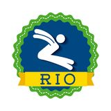 Brazil and the Olympic sports isolated icon design Stock Photo