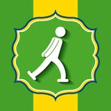 Brazil and the Olympic sports isolated icon design Royalty Free Stock Photography