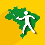 Brazil and the Olympic sports isolated icon design Royalty Free Stock Photo