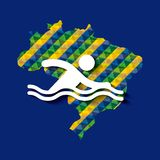 Brazil and the Olympic sports isolated icon design Stock Photography