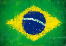Brazil painted flag Royalty Free Stock Image