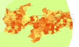 brazil paraibatillstånd Arkivbilder