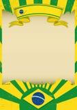 Brazil parchment background Stock Images