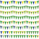 Brazil party bunting Stock Photos