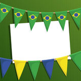 Brazil party card Royalty Free Stock Image