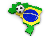 brazil piłka nożna Obraz Royalty Free
