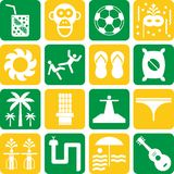 Brazil pictograms Stock Image