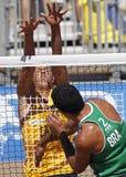 brazil plażowa siatkówka Latvia Zdjęcie Royalty Free