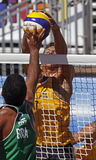 brazil plażowa siatkówka Latvia Obrazy Stock