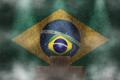 Brazil podium Royalty Free Stock Images