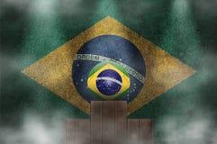 Brazil podium Royalty Free Stock Images