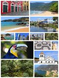 Brazil postcard Royalty Free Stock Images