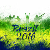 Brazil 2016 Poster, Banner or Flyer design. Royalty Free Stock Image