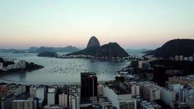 brazil powietrzny widok De Janeiro Rio Cukrowego bochenka g?ra i Botafogo pla?a wybawiciel mi?o?? zdjęcie wideo
