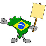 Brazil protest Royalty Free Stock Photos
