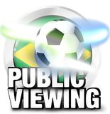 Brazil Public Viewing with lights design ball Royalty Free Stock Photos