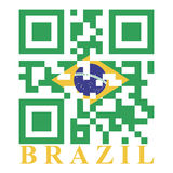 Brazil QR Royalty Free Stock Image