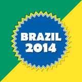 Brazil 2014, retro label Royalty Free Stock Image