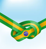 Brazil ribbon  flag Stock Photos