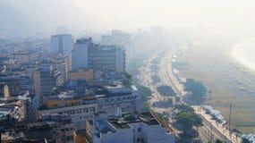 Brazil Rio De Janeiro Ipanema Morning Fog Royalty Free Stock Photography