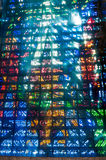 Brazil Rio de Janeiro the new Cathedral interior with vitrals an Royalty Free Stock Photo