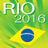 Brazil 2016 Rio de Janeiro Olympic Games. Banner in abstract colors of the Brazilian flag Royalty Free Stock Image