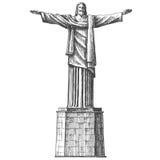 Brazil. Rio de Janeiro. Statue of Jesus Christ on Royalty Free Stock Image