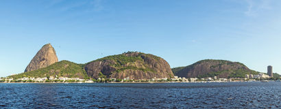 Brazil, Rio de Janeiro, Sugar Loaf Mountain - Pao de Acucar with the bay and Atlantic Ocean Royalty Free Stock Photos