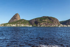 Brazil, Rio de Janeiro, Sugar Loaf Mountain - Pao de Acucar with the bay and Atlantic Ocean Royalty Free Stock Photo