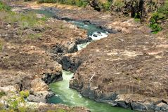 Brazil river. Clear water at Tocantins River. National park of Chapada dos Veadeiros. Goias Estate, Brazil Stock Image