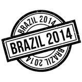 Brazil 2014 rubber stamp. Grunge design with dust scratches. Effects can be easily removed for a clean, crisp look. Color is easily changed Royalty Free Stock Photography