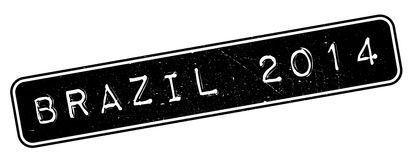 Brazil 2014 rubber stamp. Grunge design with dust scratches. Effects can be easily removed for a clean, crisp look. Color is easily changed Royalty Free Stock Photos