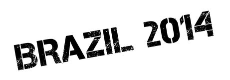 Brazil 2014 rubber stamp. Grunge design with dust scratches. Effects can be easily removed for a clean, crisp look. Color is easily changed Stock Photography